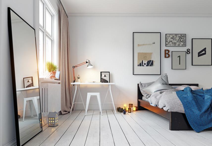 Home office w sypialni