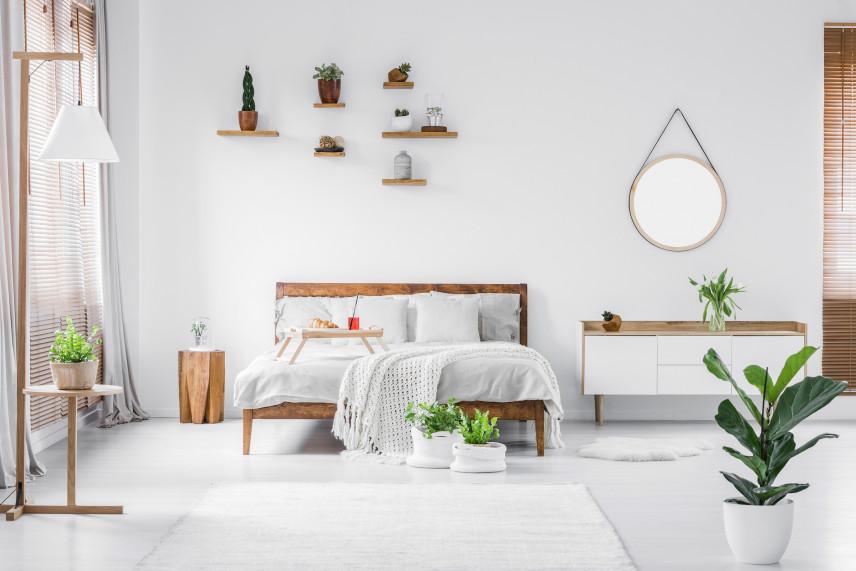 Projekt sypialni w bieli