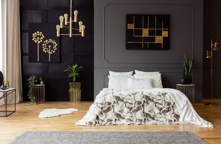 Sypialnia w stylu toskańskim i glamour