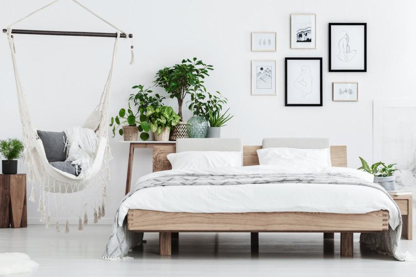 Projekt sypialni z huśtawką