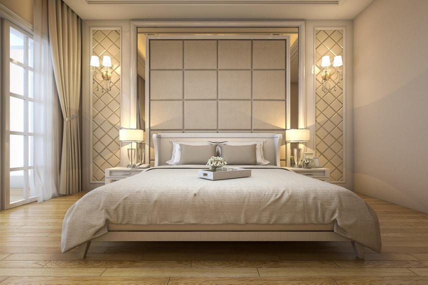 Projekt sypialni w stylu shabby chic