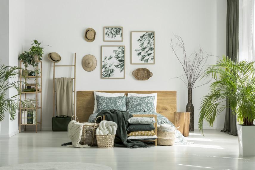 Sypialnia dla fanów zieleni