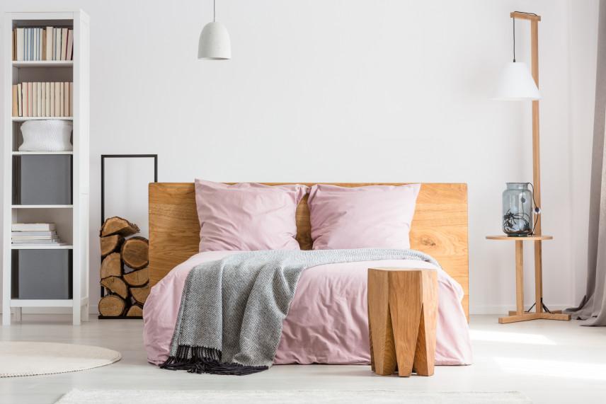 Minimalistyczny klimat w sypialni