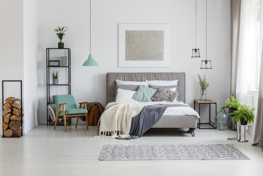 Sypialnia z dodatkami
