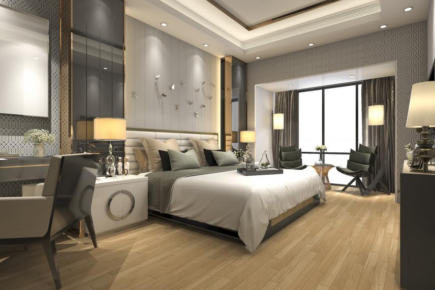 Szykowna sypialnia