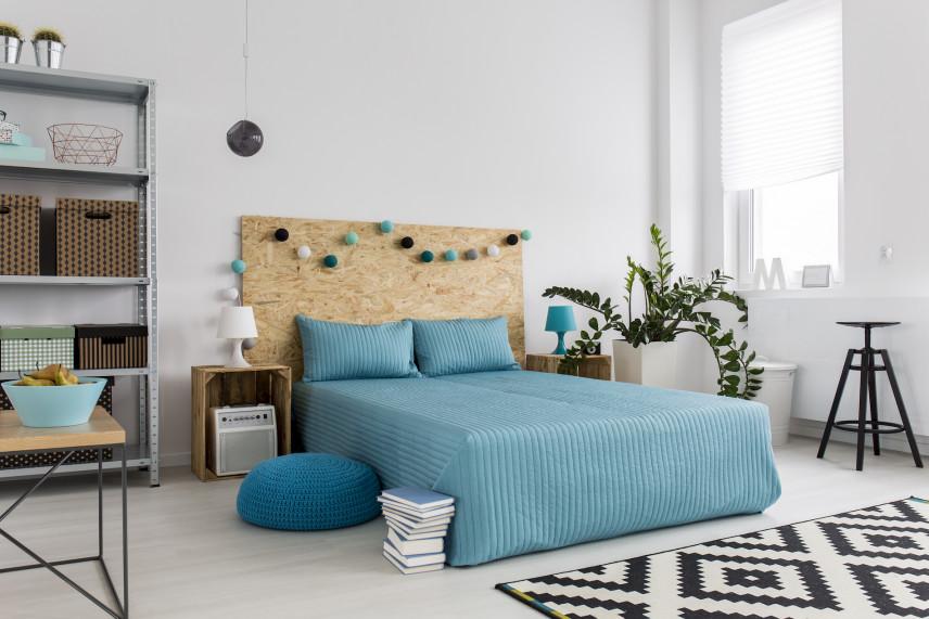 Styl rustykalny w sypialni