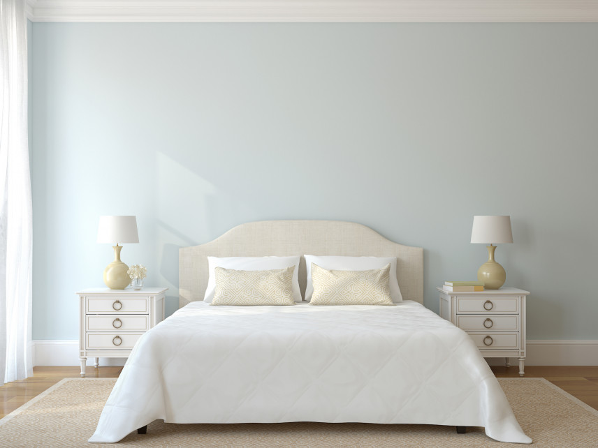 Aranżacja sypialni z delikatnym kolorem