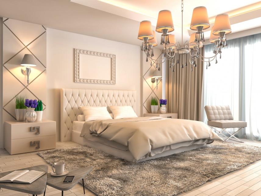 Projekt sypialni w stylu angielskim