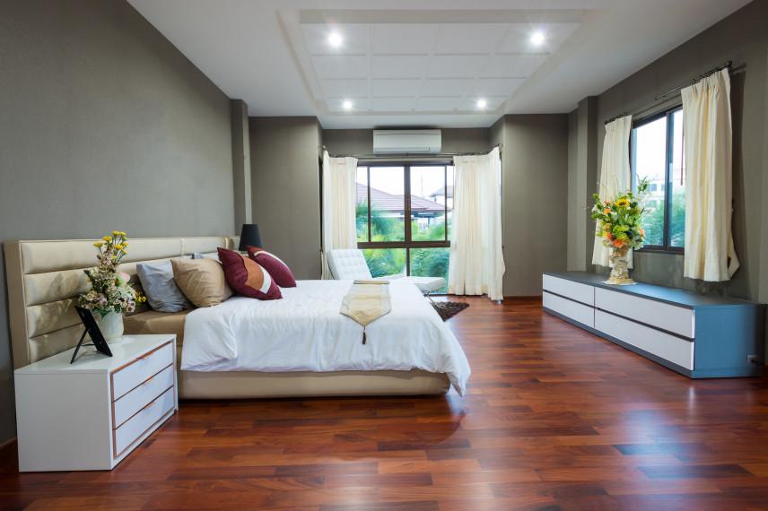 Projekt przestrzennej sypialni
