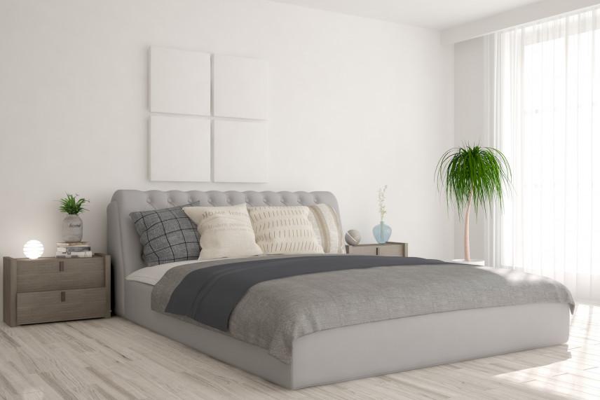 Sypialnia z białymi ścianami