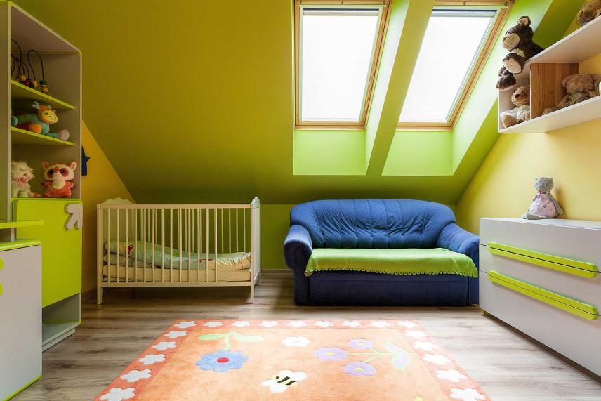 Limonkowy pokój dziecięcy