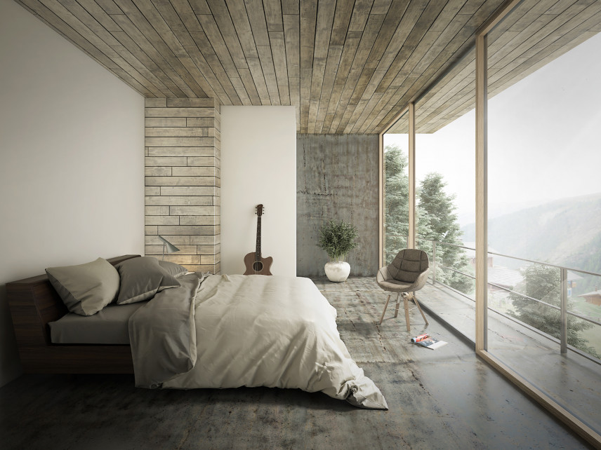 Sypialnia z pięknym widokiem