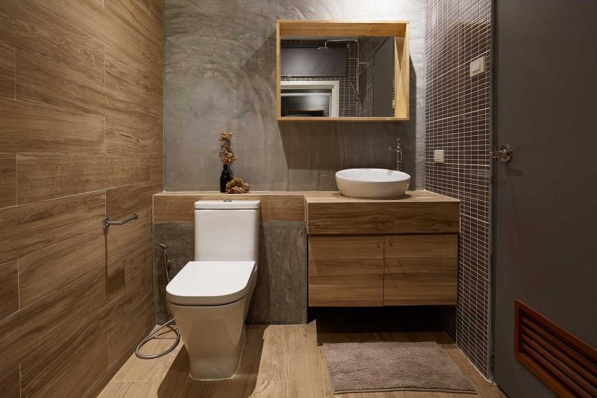 Ciemnoszara łazienka