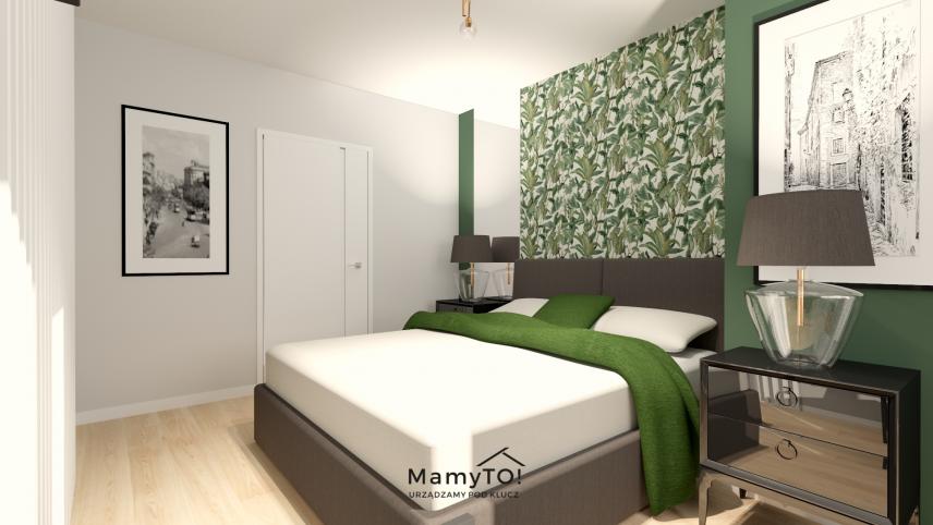 Sypialnia z dużym łóżkiem kontynentalnym