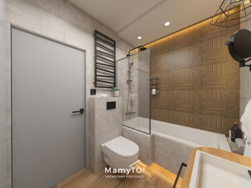 Łazienka z dużą prostokątną wanna