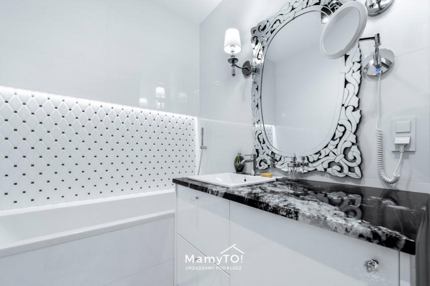 Aranżacja łazienki w stylu glamour