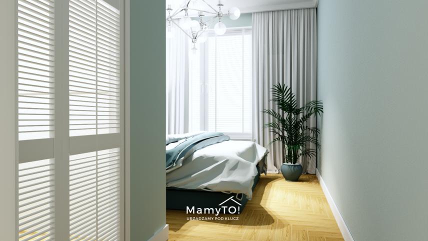 Drewniana podłoga w sypialni