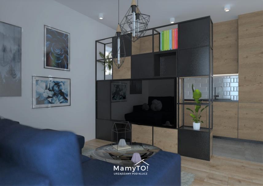 Klimatyczny salon w stylu loft