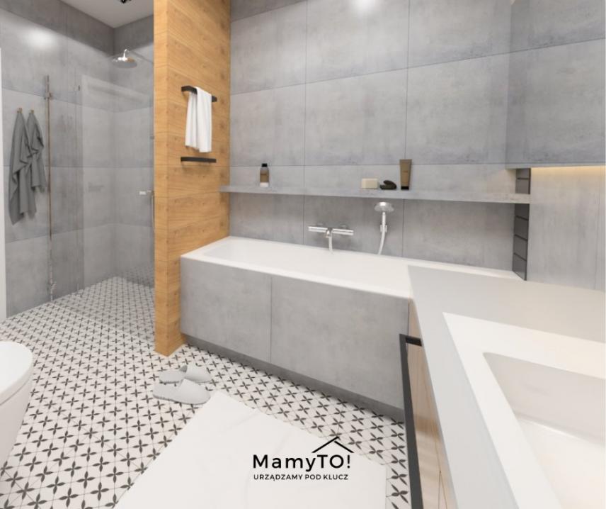 Nowoczesna łazienka z prysznicem i wanną