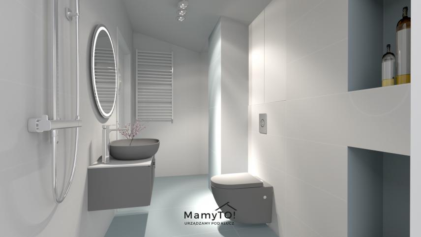 Projekt łazienki z podwieszanym wc