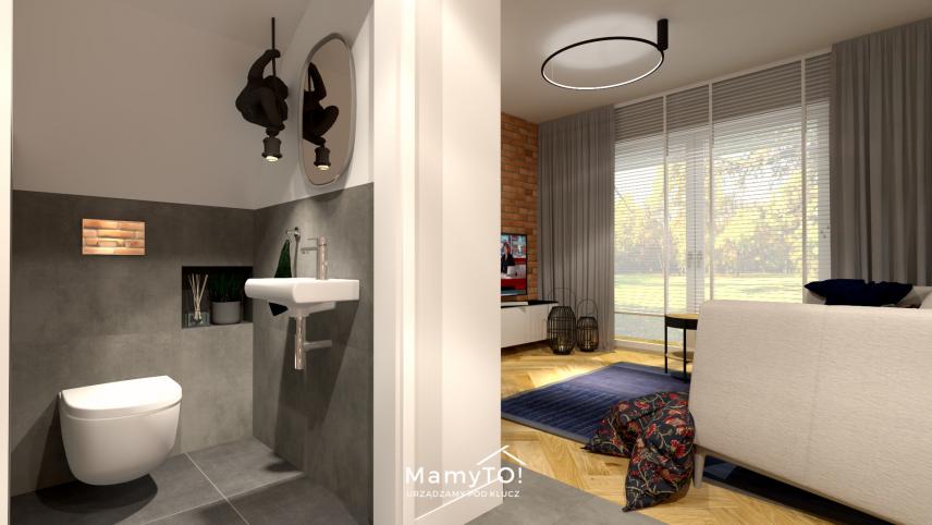 Projekt pojedynczej łazienki