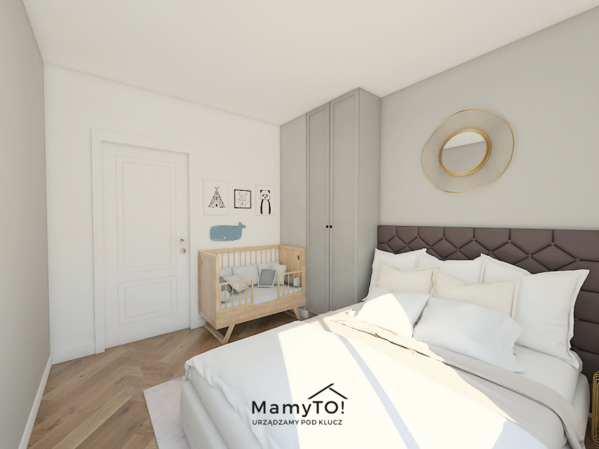 Sypialnia dla rodziców i dla dziecka