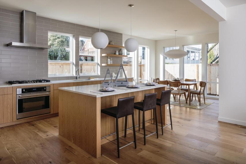 Kuchnia otwarta w domu jednorodzinnym