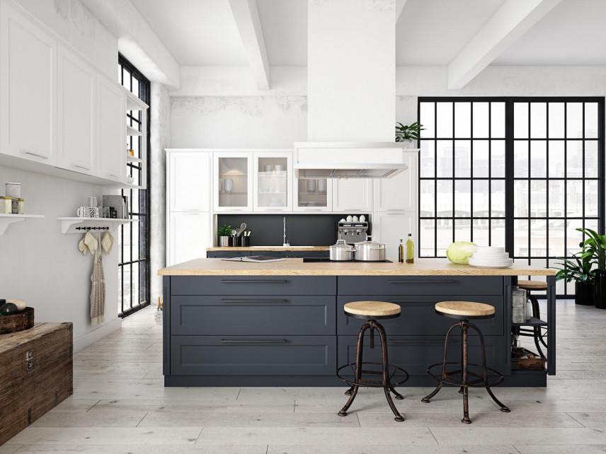 Białe ściany w kuchni