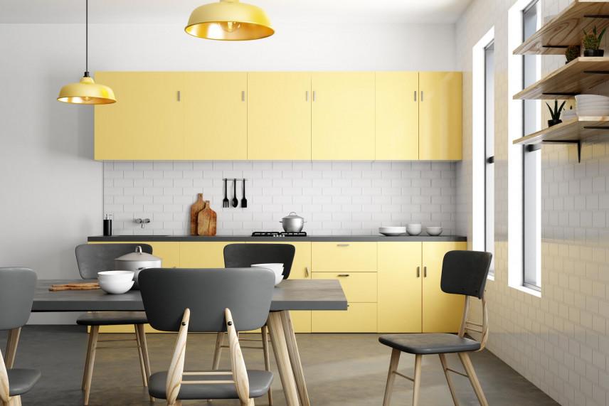 Żółte fronty w kuchni