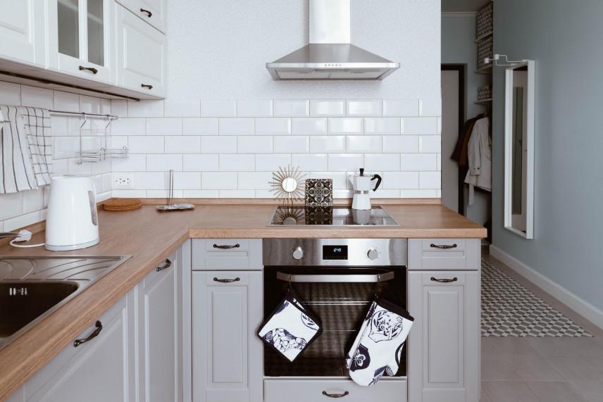 Biało-szara kuchnia