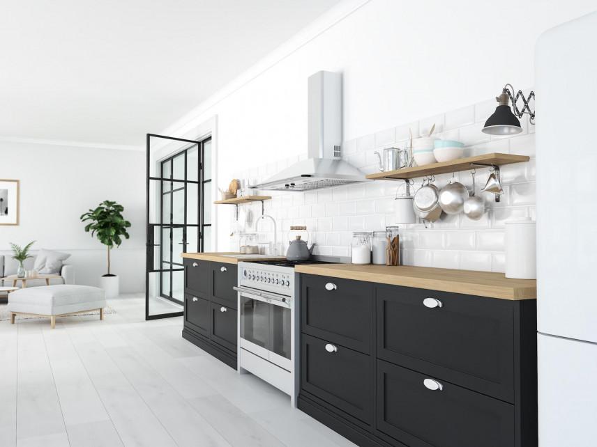 Styl loft w kuchni