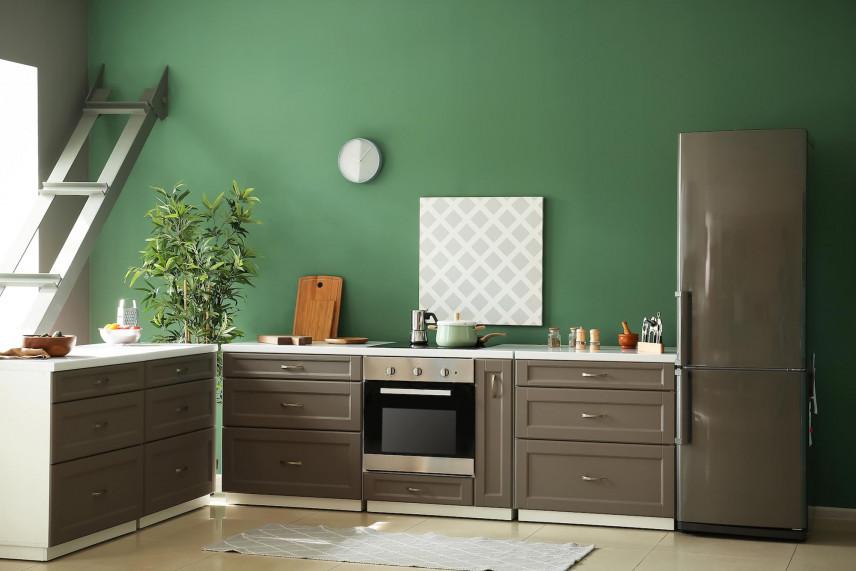 Zielony kolor ścian w kuchni