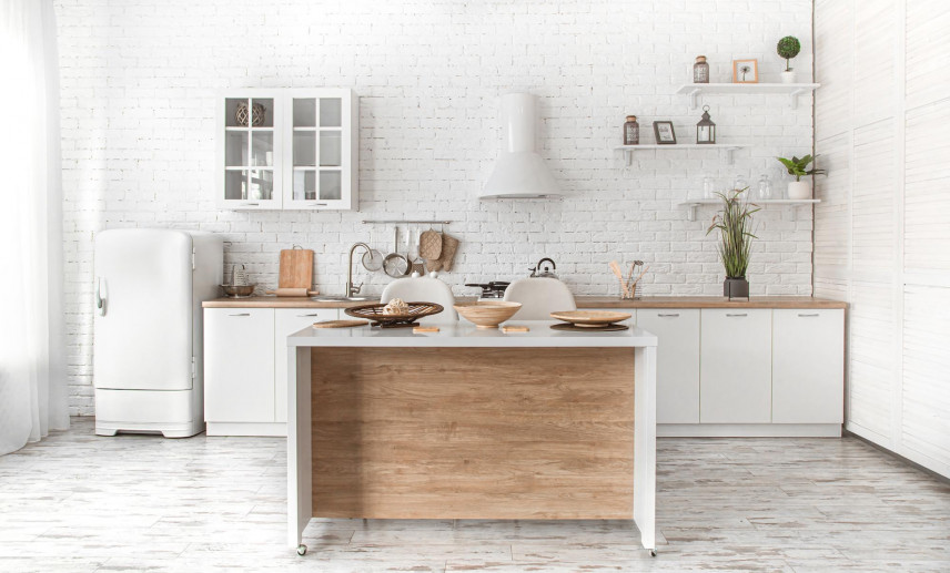 Aranżacja małej kuchni w stylu retro