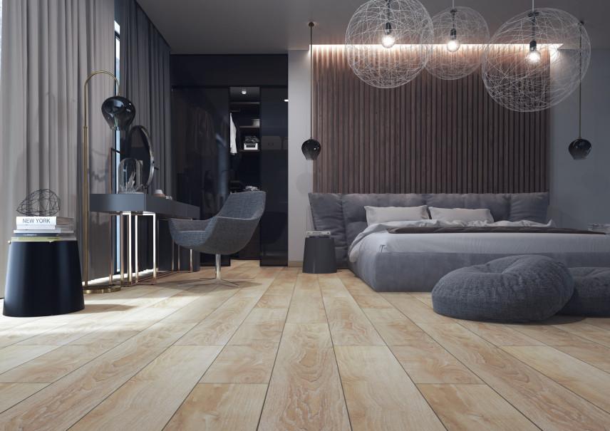 Luksusowa sypialnia  z podłogą Weninger DeLux