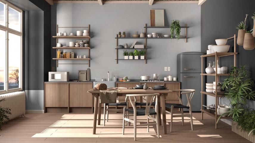 Stylowa kuchnia rustykalna