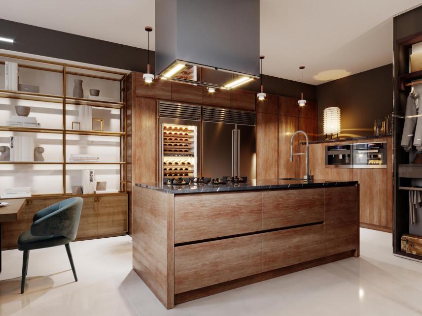 duża kuchnia w stylu nowoczesnym