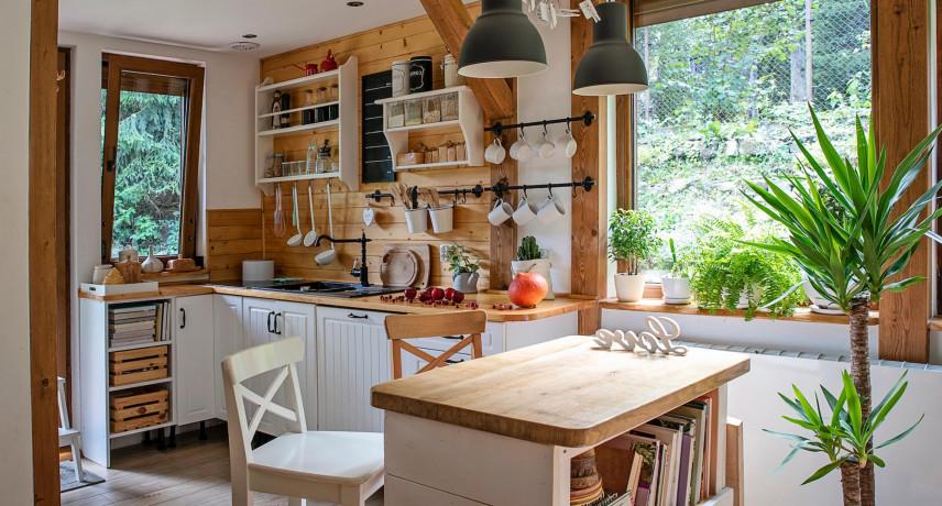 Mała kuchnia w stylu retro