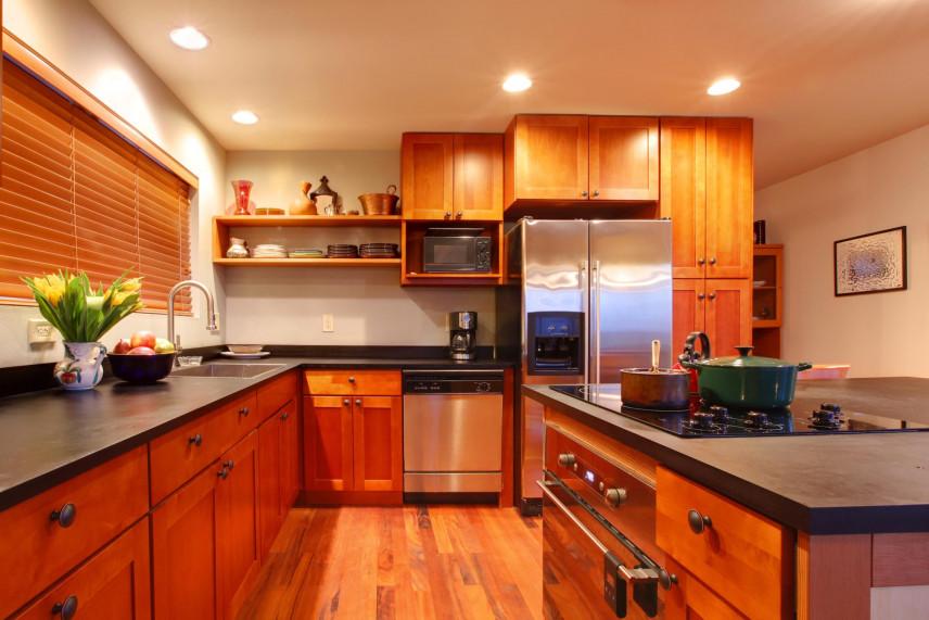 Aranżacja kuchni w stylu amerykańskim z wyspą