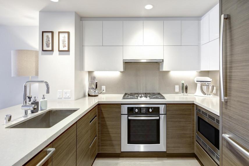 Aranżacja małej kuchni w kształcie litery U