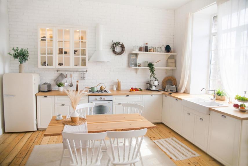 Projekt małej kuchni w stylu retro