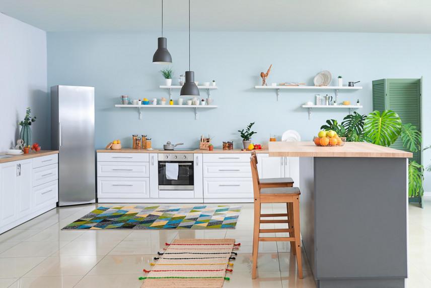 Aranżacja niebieskiej kuchni