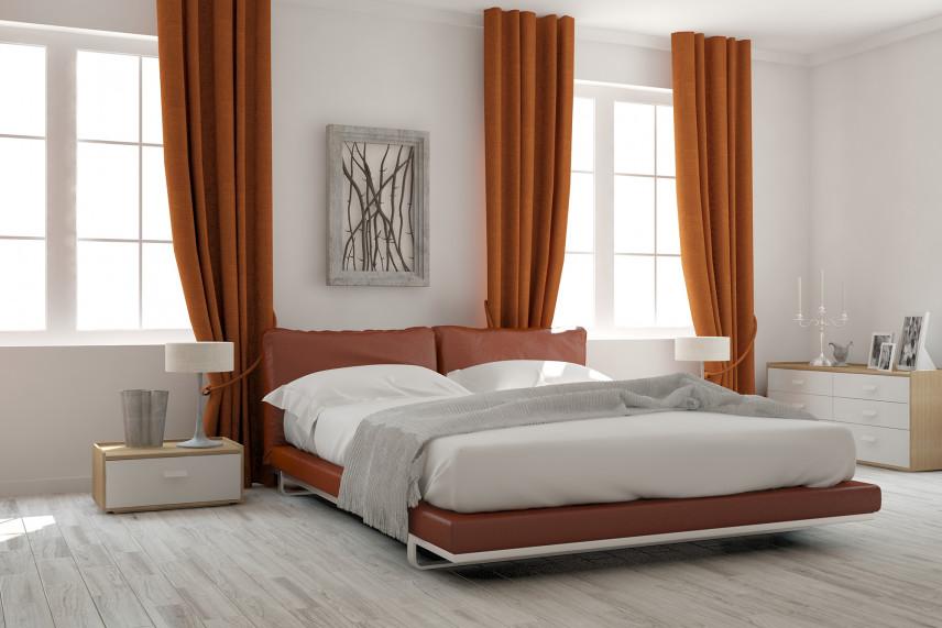 Duża sypialnia w stylu skandynawskim