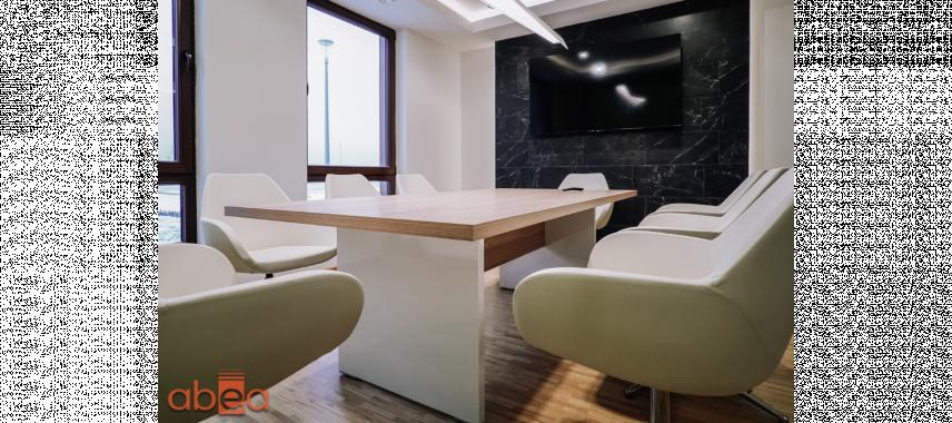 Aranżacja biura z oświetleniem Led sufitowym