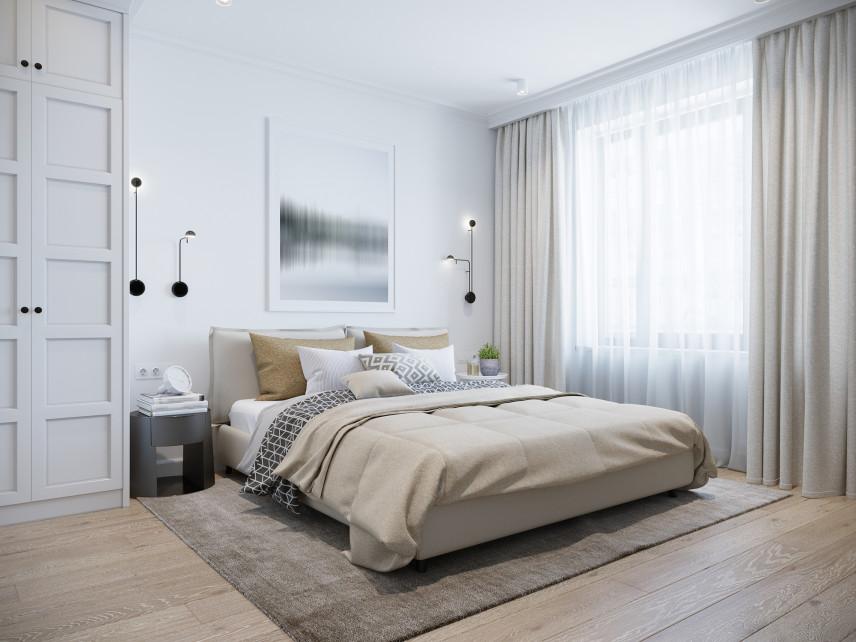Minimalistyczna sypialnia w stylu skandynawskim