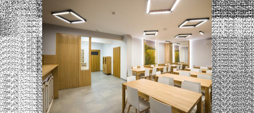 Projekt dużego pomieszczenia biurowego