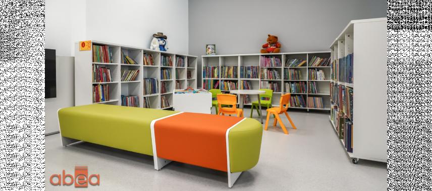 Projekt biblioteki dla dzieci z kącikiem do czytania