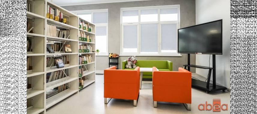Projekt biblioteki z telewizorem