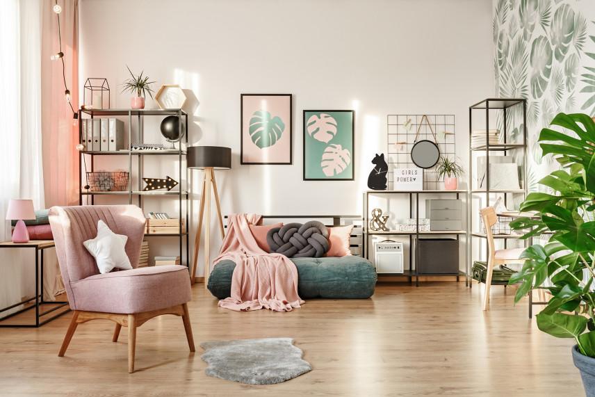Kolorowa sypialnia w stylu boho