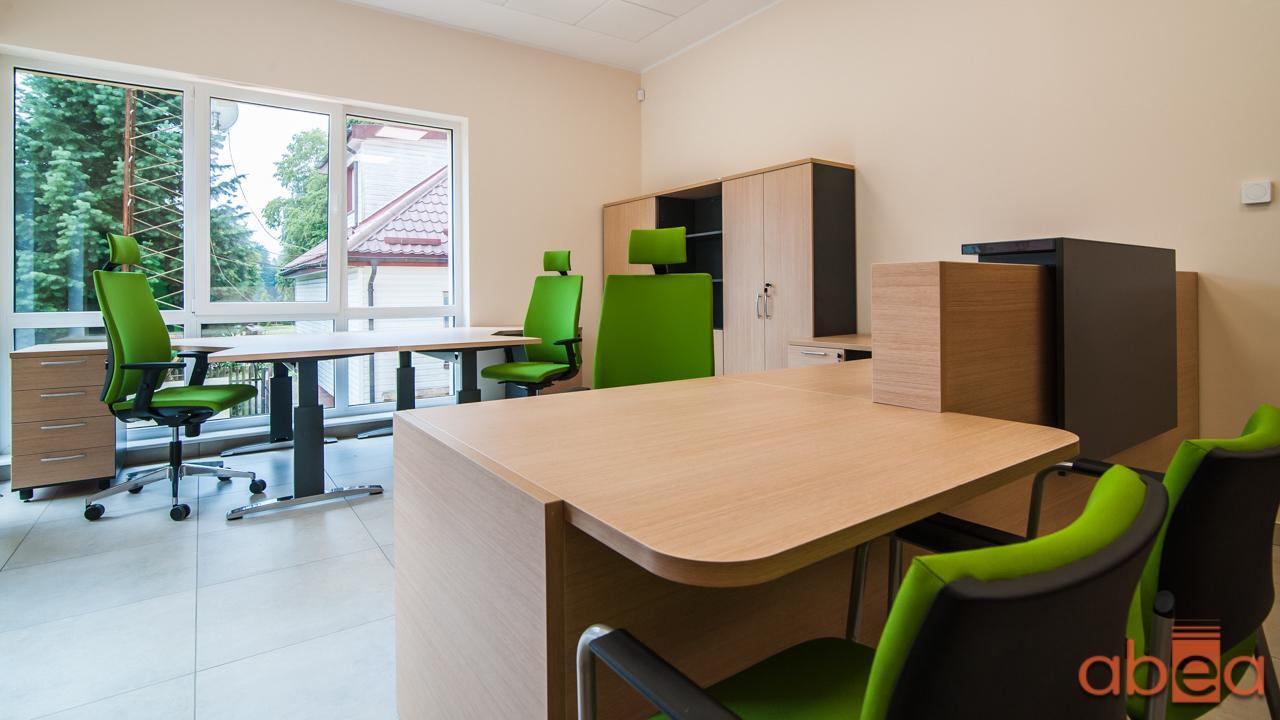 Aranżacja biura z designerskimi meblami
