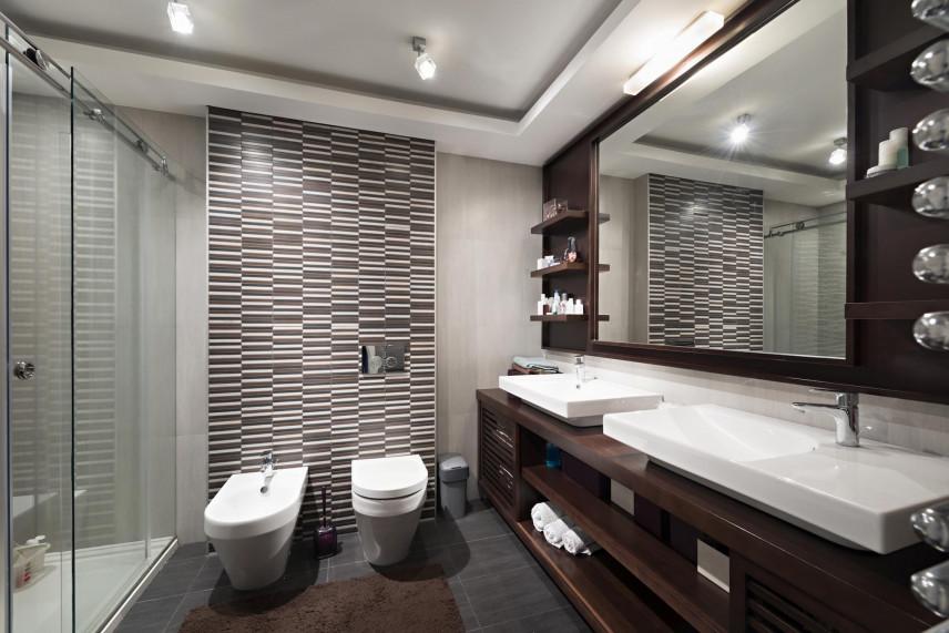 Aranżacja łazienki z płytkami 3d